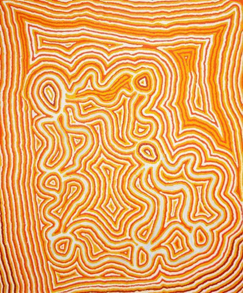 Ningie Nangala (c.1934 - ) - Artist's Country 150 x 180cm
