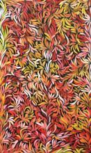 Rachael Nambula (c.1970 - ) - Awelye Ceremonies 150 x 91cm (framed & ready to hang)