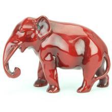 Royal Doulton Flambé Elephant Figure