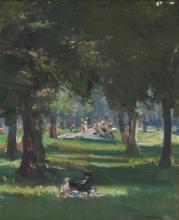Isabel May Hunter Tweddle (1877 - 1945) - Kensington Gardens, London, 1926 26.5 x 22 cm