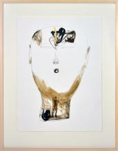 Dadang Christanto (1957 - ) - Head with Gold C, 2005 76 x 57cm
