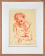 Nora Heysen (1911 - 2003) - Mother and Child 33.5 x 24.5 cm