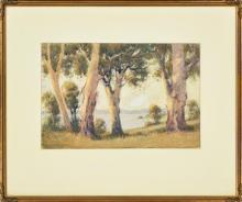 Alvah Earlington Rosebray (active 1900s) - View of Cove 20 x 31cm