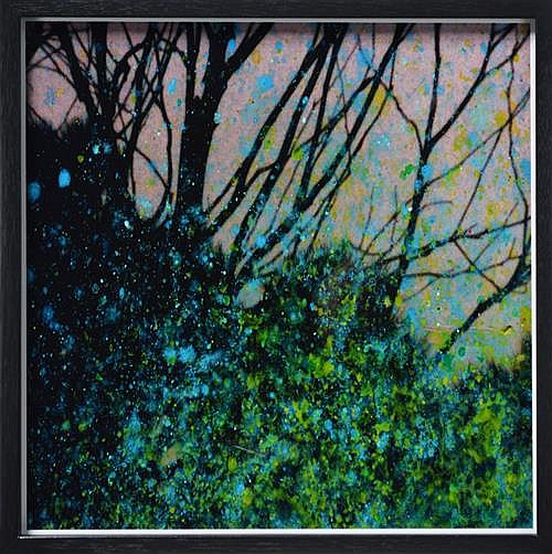 Andrew Browne (1960 -) - Illuminated Branches 40 x 40cm