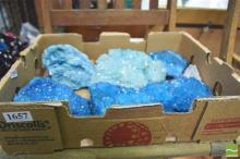 Box Tint Blue Quartz Crystal
