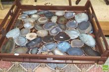 Bread Crate Polished Natural Agate Slices