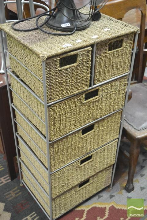 wicker chest of drawers. Black Bedroom Furniture Sets. Home Design Ideas