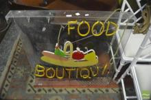 Neon Food Sign