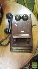 Vintage Timber Wall Mount Phone