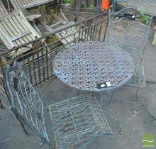 Metal Three Piece Outdoor Setting