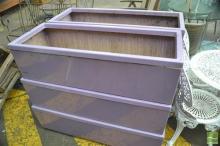 Set of 6 Purple Planters