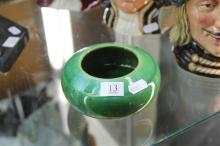 McHugh Signed Green Glaze Bowl