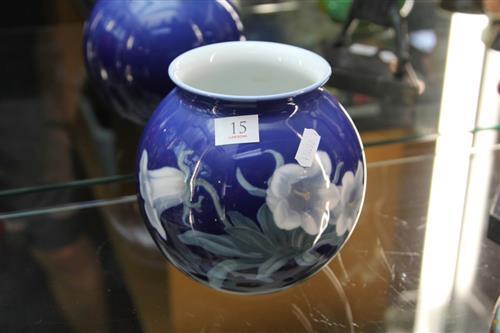 Bing & Grøndahl Blue Floral Vase