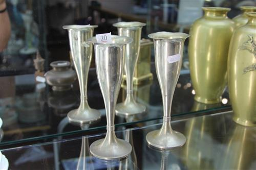 Austro-Hungarian Silver 800 Standard Pair of Goblets