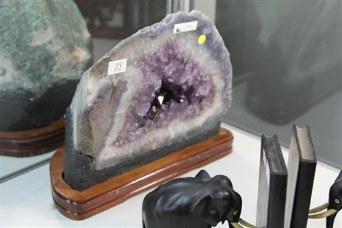 Amethyst Cave on Timber Stand (9kgs)