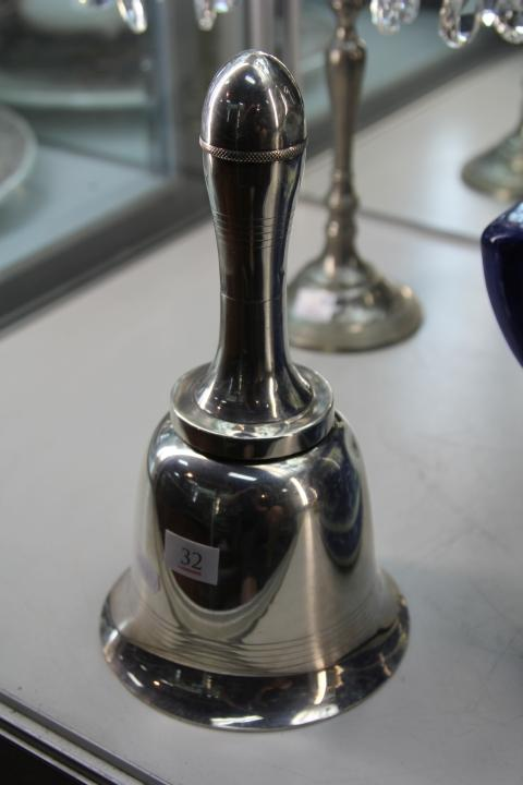 Vintage Silver Plated Bell Form Cocktail Shaker