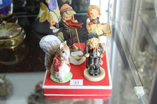 Beswick 'Beatrix Potter' Figurine with Other Ceramics incl Three Hummels Figurines