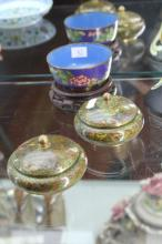 Cloisonne Bowl & Two Cloisonne Pots on Stands