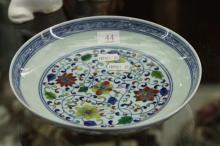 Famille Rose Plate with Flowers