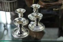 Sterling Set of 4 Candlesticks