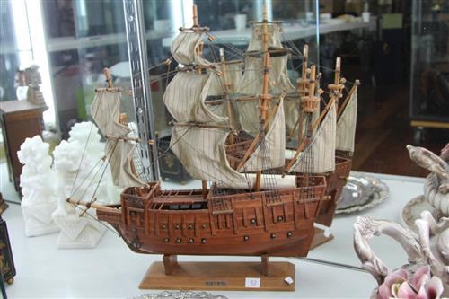 Timber Model of the Mary Rose