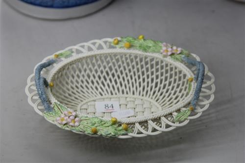 Belleek Floral Basket