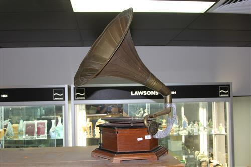 His Masters' Voice Gramophone (crank missing)