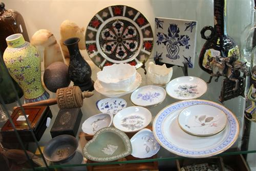 Royal Crown Derby Cabinet Plate with Other Ceramics incl. Coalport & Royal Worcester