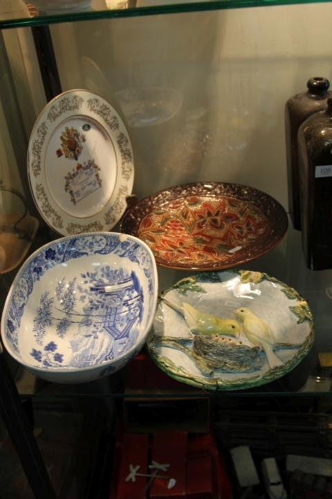 Crown Devon Plate with Other Ceramics incl. Wedgwood (a.f.)
