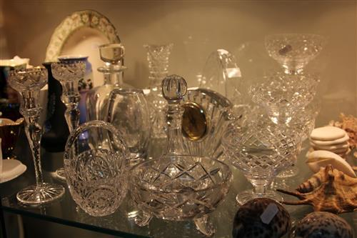 Stuart Crystal Champagne Glasses with other Crystal incl. Handled Baskets