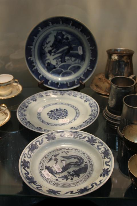 Chinese Blue & White Plates (3)