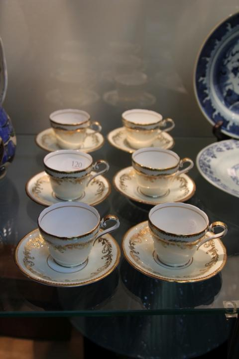 Aynsley Set of 6 Coffee Cup & Saucers