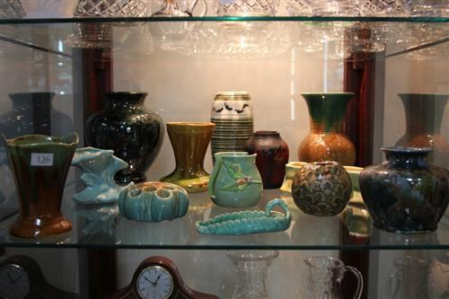 Studio Anna Vase with other Australian Pottery incl. Sayers