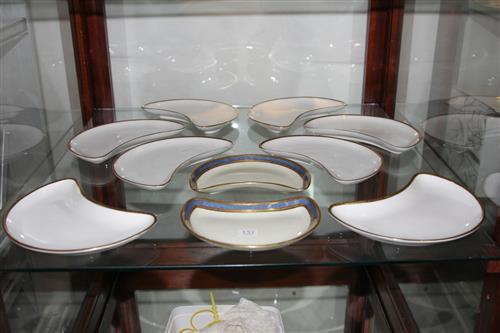 Minton 'Golden Heritage' Kidney Shaped Dishes with Two Royal Doulton Examples