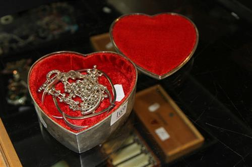 Sterling Silver Ladies Jewellery with Other Jewellery & a Jewellery Box