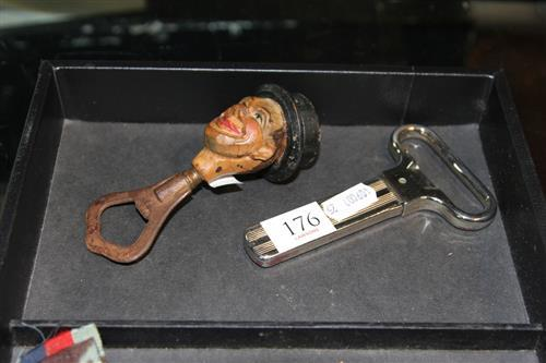 Monopol 'Ah-So' Bottle Opener and Figural Example