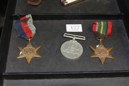Pacific Star, 1939-1945 Star and Australian Service Medals