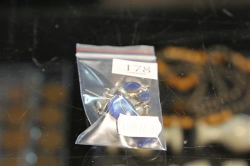 Lapis Lazuli & 950 Silver Set of Earrings & Bracelet
