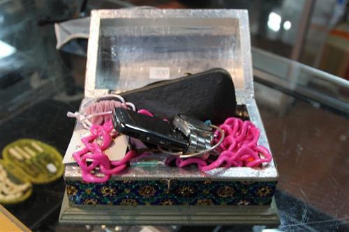 Costume Jewellery in Cloisonne Box