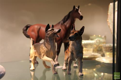 Royal Doulton German Shepherds & Beswick Horse