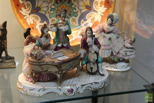 German Crinoline Lady Figure Groups (2)