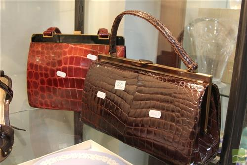 Italian Crocodile Skin Handbag With Another