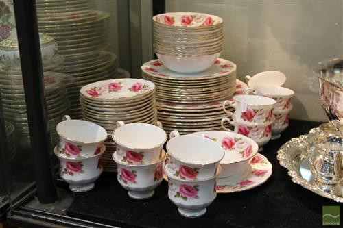 Queen Anne 'Princess Rose' Twelve Piece Dinner Setting (1 Bowl & 1 Salad Plate AF)