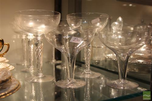Air Twist Stem Glasses (1 AF) with Glass & Crystal incl. Hollow Stem