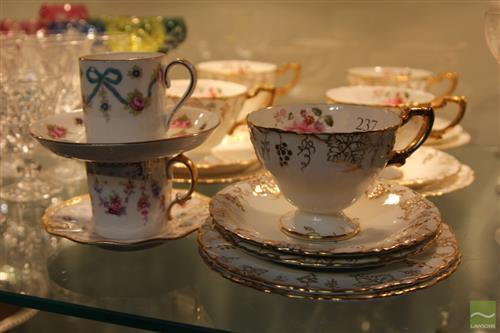Royal Crown Derby Tea Wares With Others Incl Crown Staffordshire