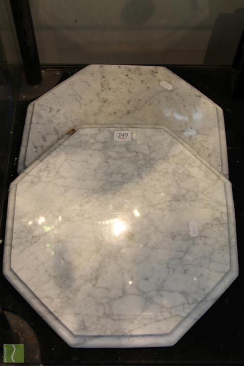 Marble Pair of Clock Bases (2)