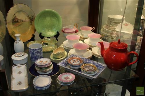 Shelley Tea Wares with Other Ceramics incl Royal Doulton Cabinet Plate