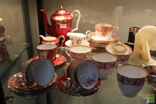 Royal Doulton 'Raby Rose' Tea Setting for Four with Others incl. Crown Staffordshire