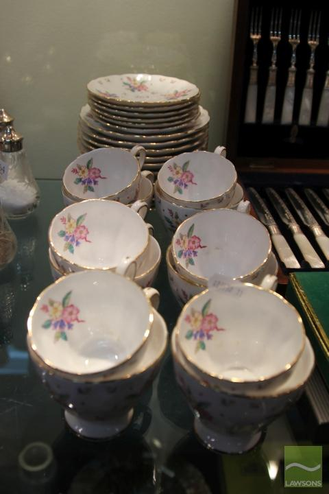 Grosvenor 'Bouquet' Tea & Coffee Wares for Six
