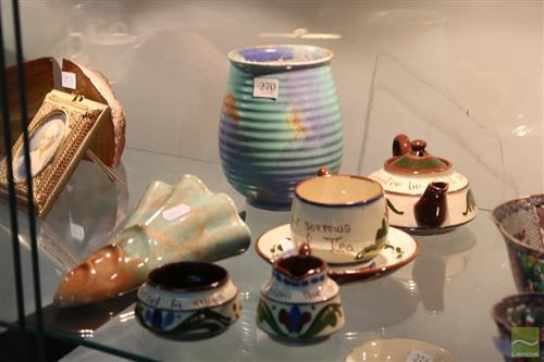 Torquay Ware Tea Set with Other Ceramics incl Empire Ware Vase